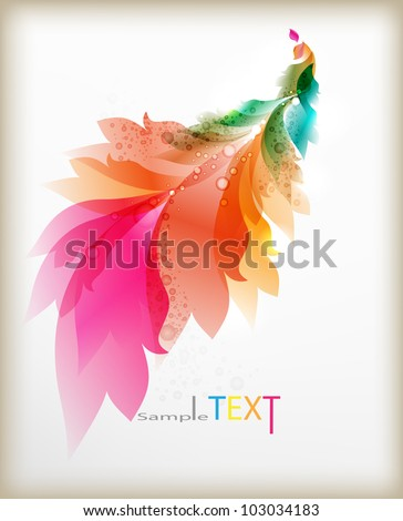 Abstract headers with floral elements . Vector design .