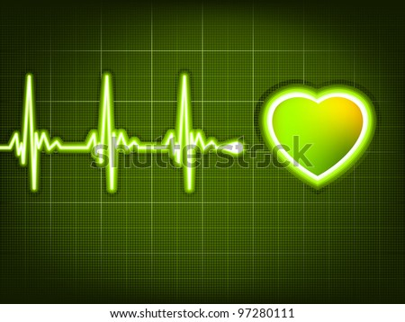 Abstract heart beats cardiogram. And also includes EPS 8 vector