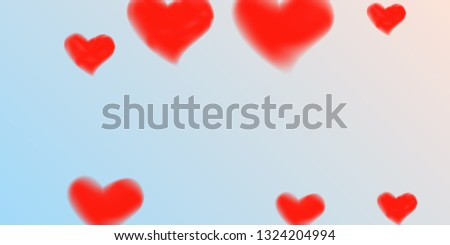 Abstract heart confetti beautifully chaotic for concept design. Romantic red heart background. Creative cover vector concept.  Flyer design, poster template. Hearts of confetti for Valentines day. #1324204994
