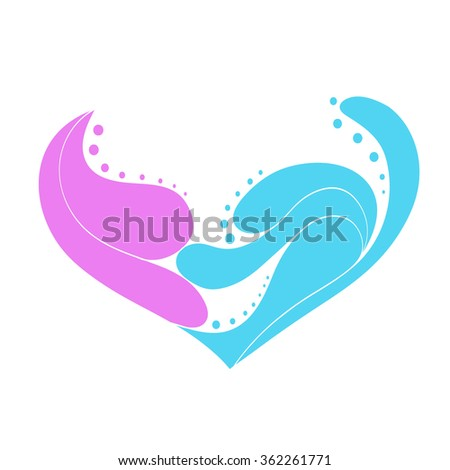 abstract heart consisting of