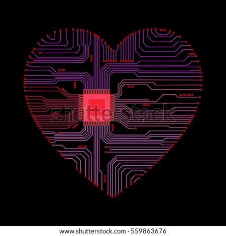 abstract heart heart as an