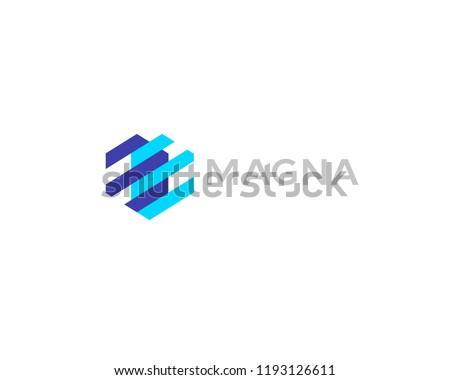 Abstract heart mechanism logo. Geometric construction device vector logotype