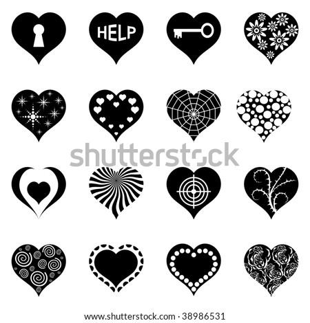 Abstract Heart's Set. Sixteen Vector Illustration's.