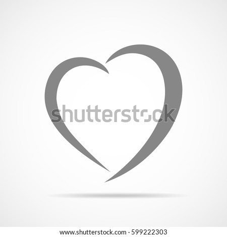 abstract heart shape outline