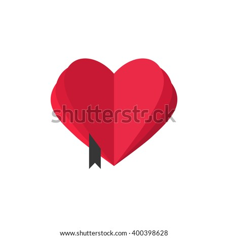 abstract heart shaped book with