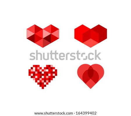 abstract heart symbols