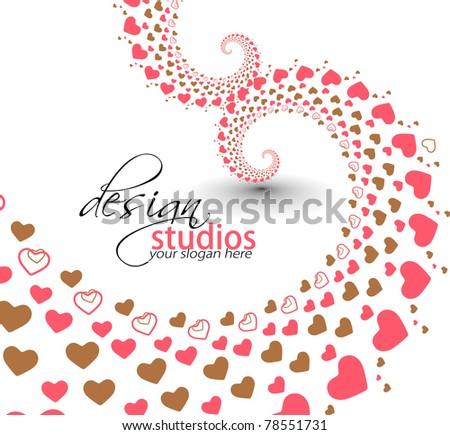 abstract heart valentine background design.