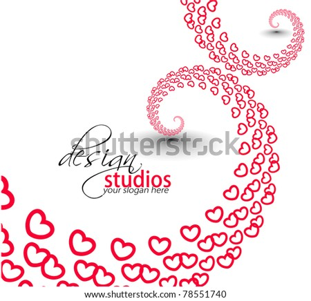 abstract heart valentine background design.
