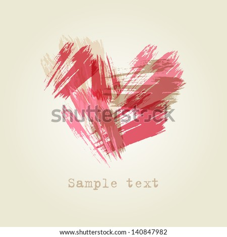 abstract heart vector brush