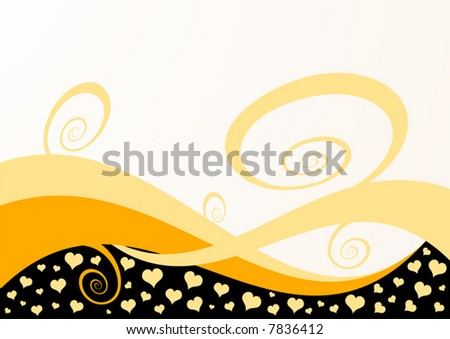 Abstract hearts background vector illustration. - stock vector