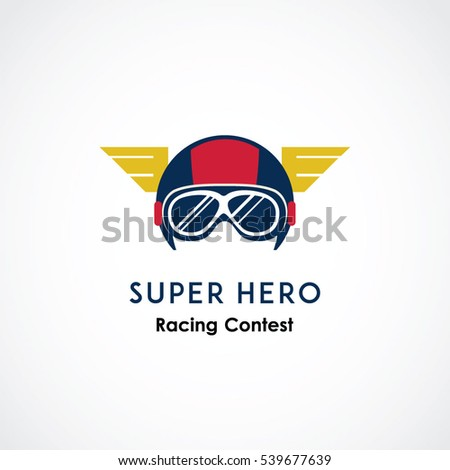 abstract helmet vector logo