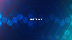 Abstract Hexagon background, Technology baclground concept with copy space, vector.