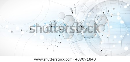 Abstract hexagon background. Technology polygonal design. Digital futuristic minimalism. Vector