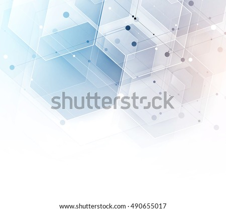 abstract hexagon background....