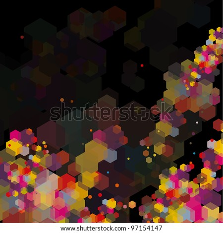 Abstract hexagon colorful background. Good for some tech situation