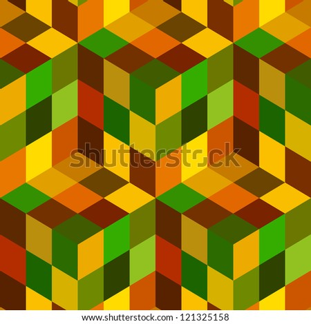 Abstract hexagon mosaic.