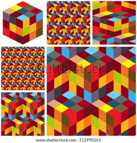 Abstract hexagon mosaic. Great collection.