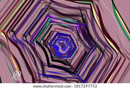 abstract hexagon vector