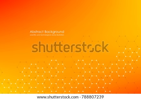 Abstract hexagonal background. Medical, scientific or technological concept. Geometric polygonal graphics. vector illustration