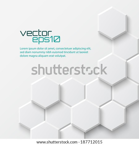 Abstract hexagonal background. Vector illustration