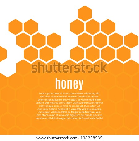 Abstract hexagonal honeycomb background. Vector illustration