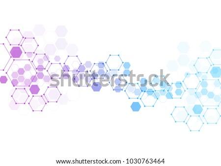abstract hexagonal molecular