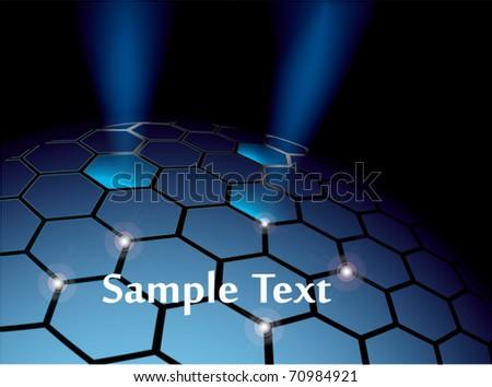 Abstract hexagonal sphere vector background eps10