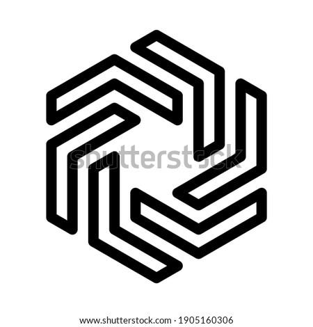 abstract hexagonal vane design