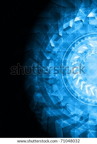 Abstract hi-tech background. Vector eps 10