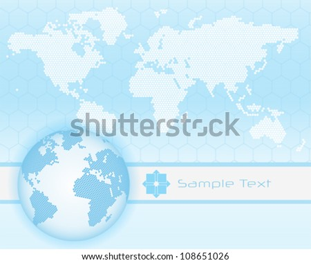 Abstract hi-tech background with earth globe