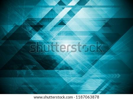 Abstract hi-tech futuristic geometrical background. Vector design
