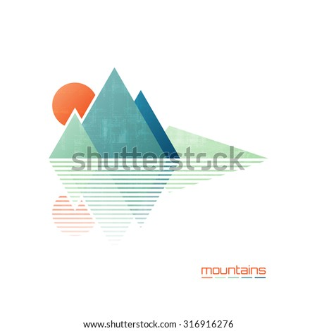 abstract high mountains vector