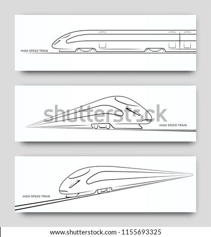 abstract high speed train in