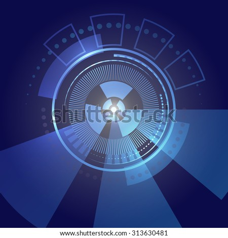 Abstract high tech blue background.
