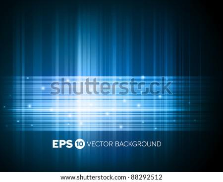 Abstract high tech blue light effect background
