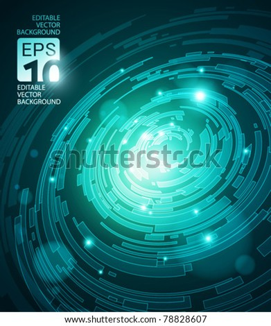 abstract high tech vector
