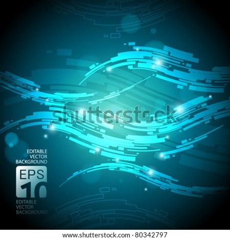 abstract high tech vector background - stock vector