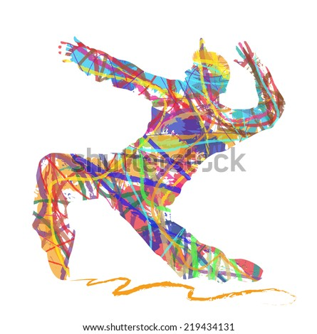 abstract hip hop dancer