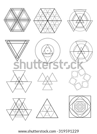 Abstract Hipster Geometrical Elements . Vector .