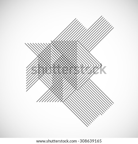 abstract hipster lines