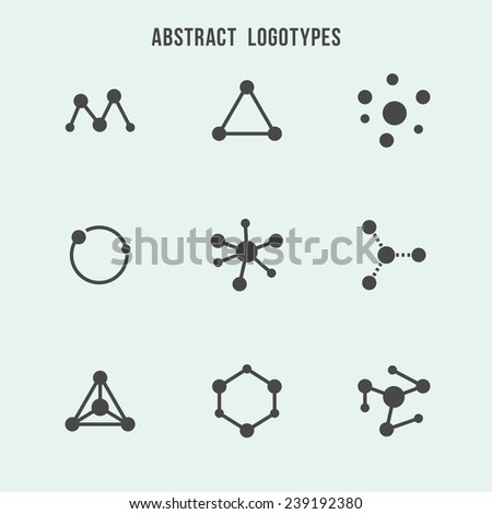 Abstract hipster logo vector set