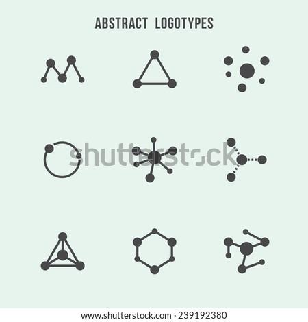 Abstract hipster logo vector set