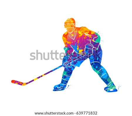 abstract hockey player from a