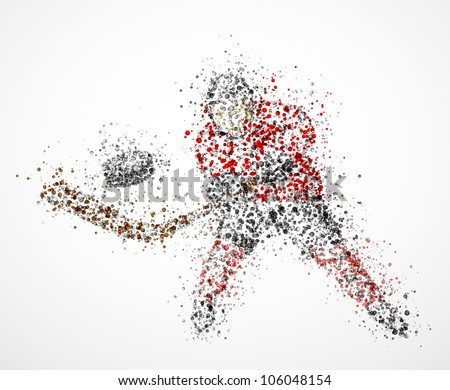 abstract hockey player  shoots