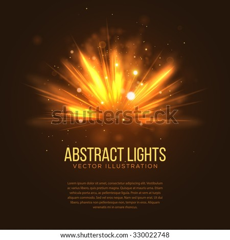 abstract holiday light rays