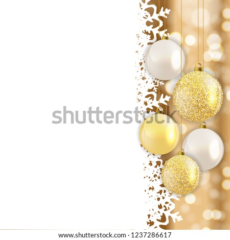 Abstract Holiday New Year and Merry Christmas Background. Vector Illustration EPS10 #1237286617