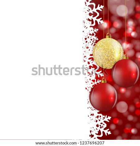 Abstract Holiday New Year and Merry Christmas Background. Vector Illustration EPS10 #1237696207