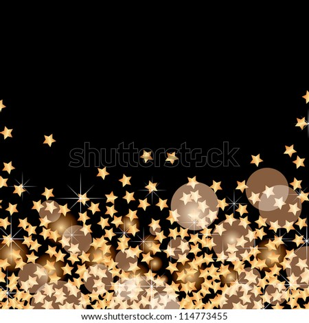 abstract holidays vector background with falling golden stars