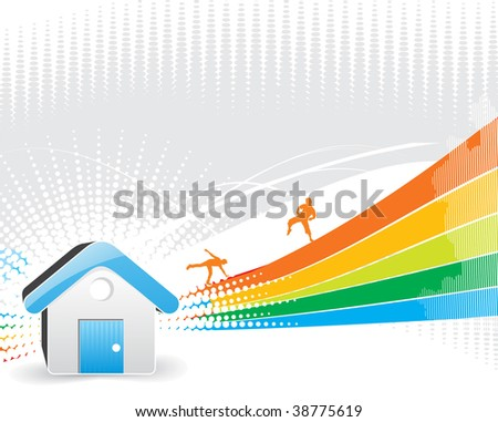 abstract home icon background