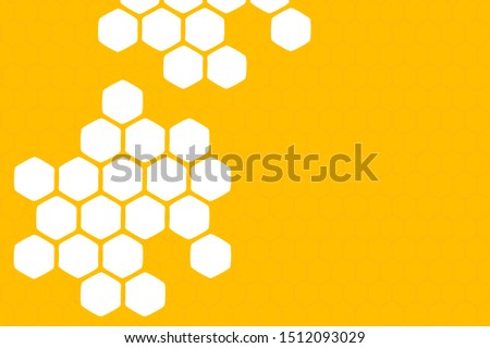 Abstract honeycomb on yellow background, flat design vector. Сток-фото ©